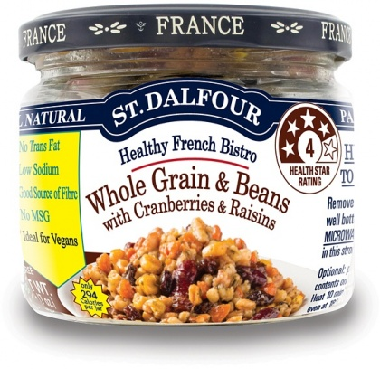 St Dalfour All Natural Ready to Eat Whole Grain & Beans in Glass 200g
