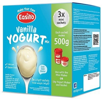 Easiyo Vanilla Yogurt Mix (3x110g) 345g