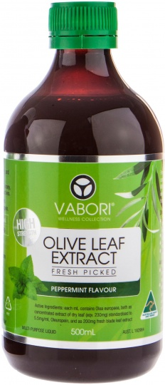 Vabori Olive Leaf Extract Peppermint 500ml