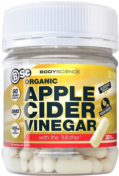 BSc Organic Apple Cider Vinegar with the Mother  60 Vegan Caps