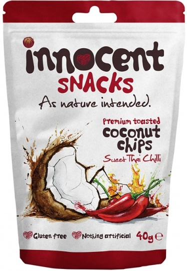 Innocent Coconut Chips Sweet Thai Chilli 12x40g