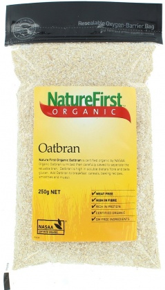 Natures First Organic Oat Bran 250gm