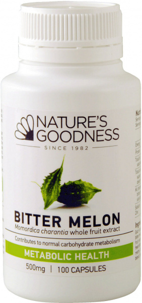 Natures Goodness Bitter Melon Capsules 500mg/100s