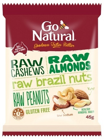 Go Natural RAW Nut Snack Pack 12x45g