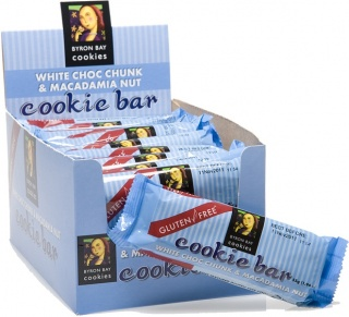 Byron Bay Gluten Free White Choc Chunk & Macadamia Nut Cookie Bar 55g x 20