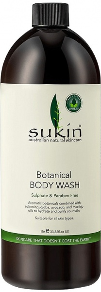 Sukin Botanical Body Wash Refill Cap 1 Litre