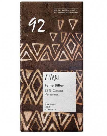 Vivani Organic Single Origin 92% w/Coconut Blossum 80g