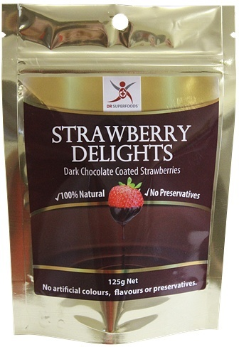 Dr Superfoods Strawberry Delights Dark Chocolate 125g