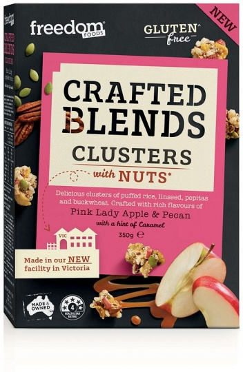 Freedom Foods Crafted Blend Clusters Pink Lady Apple, Pecan & Caramel Cereal 350g