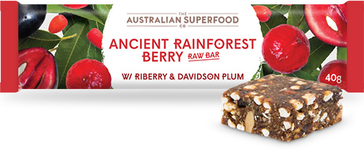 The Australian Superfood Co Ancient Rainforest Berry Raw Bar  12x40g