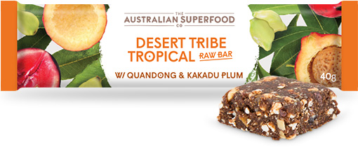 The Australian Superfood Co Desert Tribe Tropical Raw Bar  12x40g
