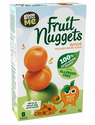 Goodness Me Fruit Nuggets Apricot (8Pouch)  120g