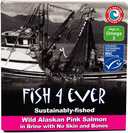Fish 4 Ever Pink Salmon Fillet in Brine 160g