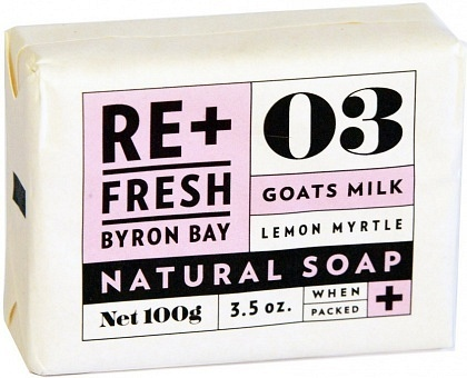 ReFresh Byron Bay Lemon Myrtle Soap Goats Milk 100g