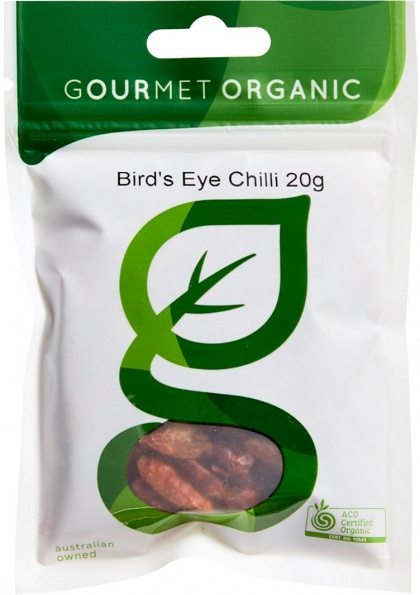 Gourmet Organic Bird's Eye Chili 20g Sachet x 1