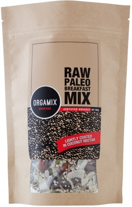 Orgamix Organic Raw Paleo Breakfast Mix Lightly Coated in Coconut Nectar  400g