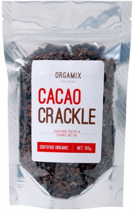 Orgamix Organic Cacao Crackle (Cacao Nibs Coated in Coconut Nectar)  150g