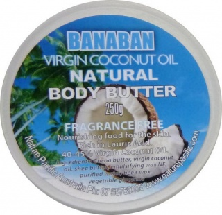 Banaban Extra Virgin Coconut Oil  Natural Body Butter (FFree) 250g