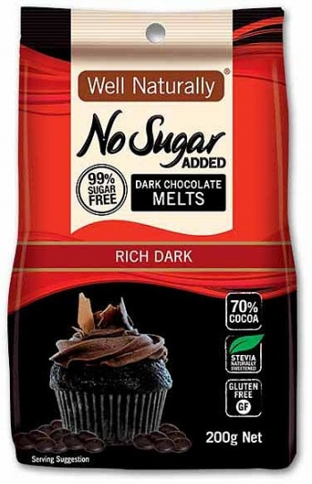 Well,naturally S/F Dark Chocolate Melts 200g