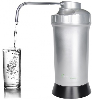 Naturopaths Choice Bench Top Water Filter Silver/Black