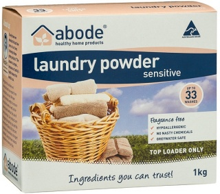 Abode Laundry Powder Sensitive Fragrance Free Top Loader 1Kg