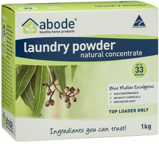 Abode Laundry Powder Blue Mallee Eucalyptus Top Loader 1Kg