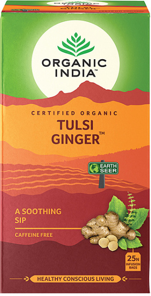 Organic India Tulsi Ginger Tea 25 Teabags