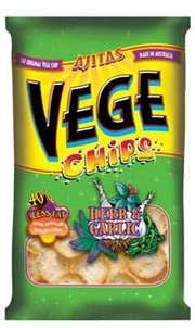 Vege Chips Herb & Garlic 50gm