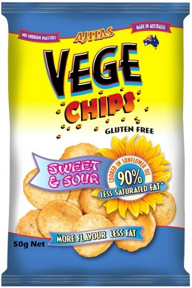 Vege Chips Sweet & Sour  50gm