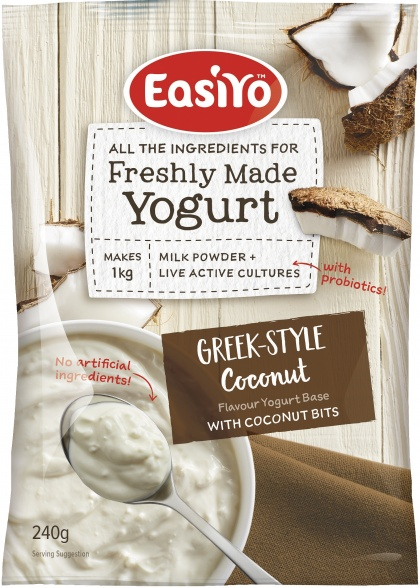 Easiyo Greek & Coconut Bits Yogurt 240g