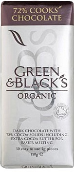 Green & Blacks 72% Cooks Chocolate 150g