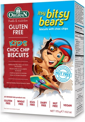 Orgran Kids Itsy Bitsy Bears Choc Chip Biscuits  175g