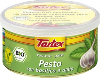 Tartex Pates Organic Pesto  125gm Can