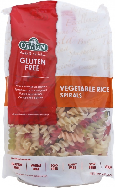 Orgran Vegetable Rice Spirals 250gm