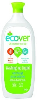 Ecover DishWashing Liquid Lemon& Aloe 1ltr(Vegan)