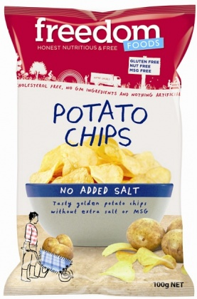 Freedom Foods No Salt Potato Chips 100gm