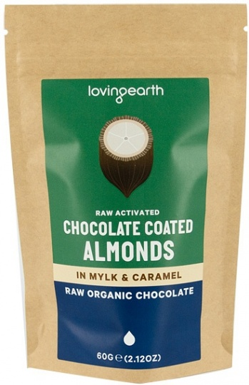 Loving Earth Chocolate Coated Almonds in Mylk & Caramel 60g