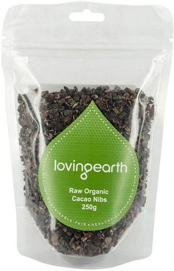 Loving Earth Raw Organic Cacao Nibs  250g