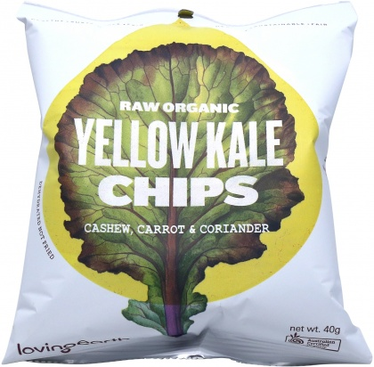 Loving Earth Raw Organic Yellow Kale Chips 8x40g