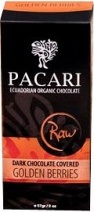 Pacari Organic Raw Dark Chocolate Covered Golden Berries 57g