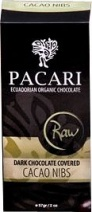 Pacari Organic Raw Dark Chocolate Covered Cacao Nibs 57g