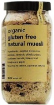 Real Good Foods Organic GF Natural Muesli Jar 475g