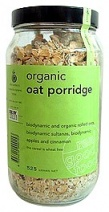 Real Good Foods Organic Oat Porridge Apple Cinnamon Jar 525g