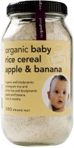Real Good Foods Organic Baby Rice Cereal Apple & Banana 330g