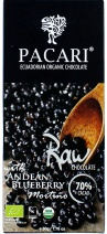 Pacari Biodynamic Raw  Cacao Bar w Andean Blueberry 50g