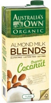 Australias Own Organic Almond & Coconut Milk 1Lt x12