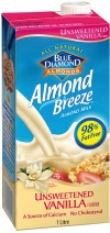 Blue Diamond Almond Breeze Unsweetened Vanilla 8x1L