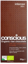 Conscious Organic Raw Chocolate Intense 70% 50g FEB17