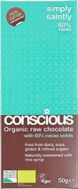 Conscious Organic Raw Chocolate Rice Syrup Simply Saintly 50gm