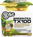 BSc Green Tea TX100 Pineapple Coconut 60x3g Serve Pack